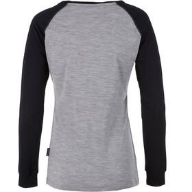 Pally'Hi Baseballet T-shirt à manches longues Femme, heather grey/bluek